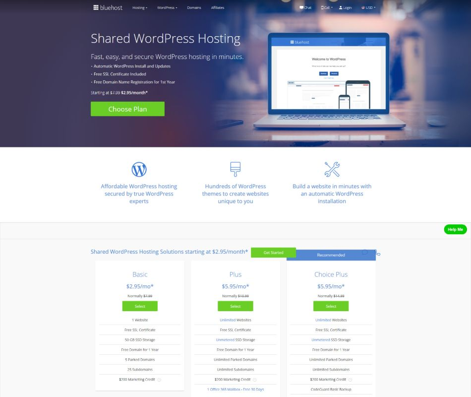 shared-wordpress-hosting-Bluehost
