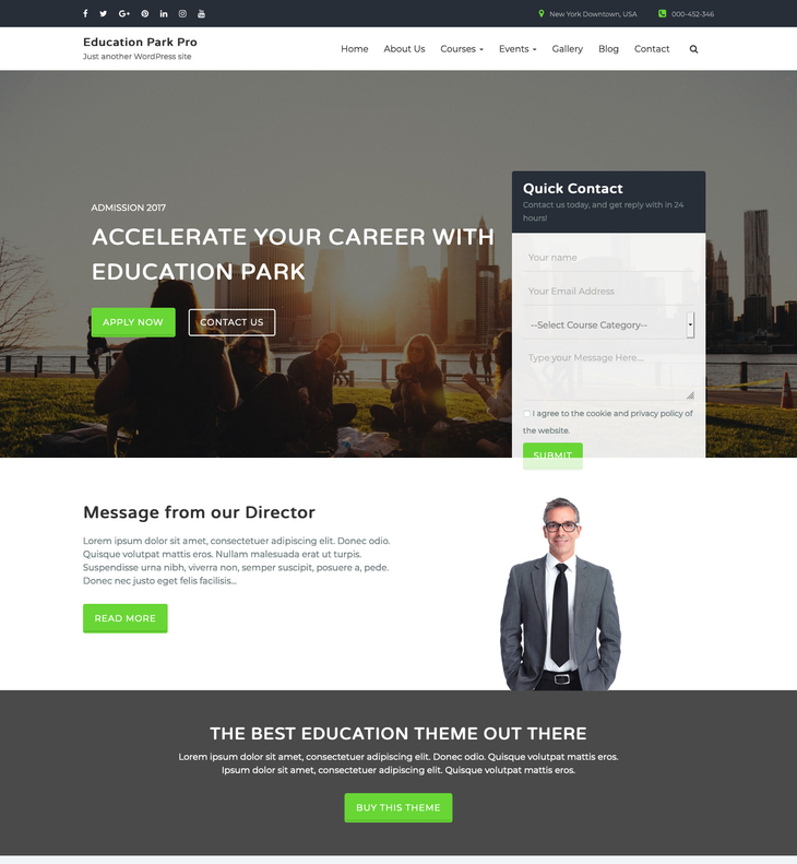 Education Park Pro WordPress Theme