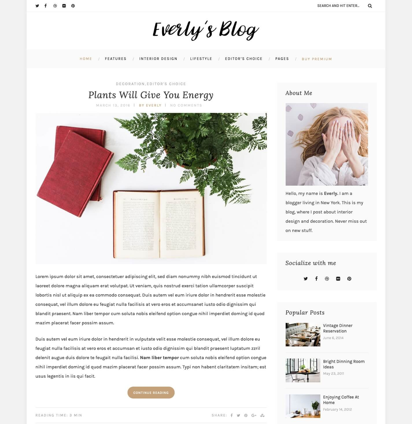 Everly Blog