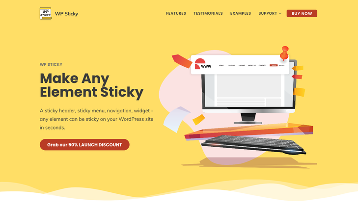 WP Sticky - Make a sticky menu, header or any other WordPress element