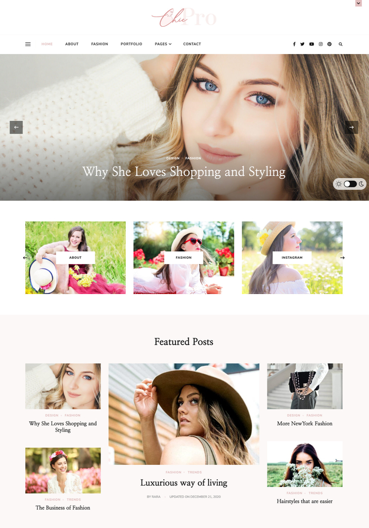 Chic Pro WordPress Theme