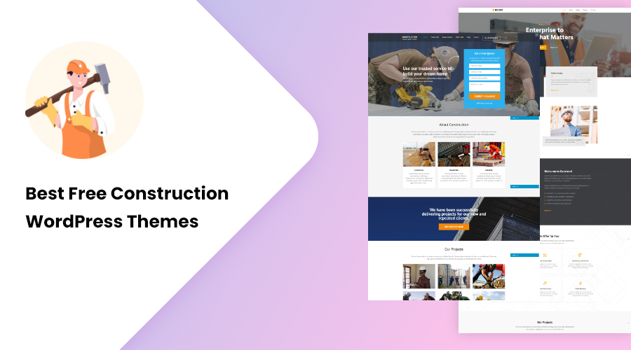 best free construction theme