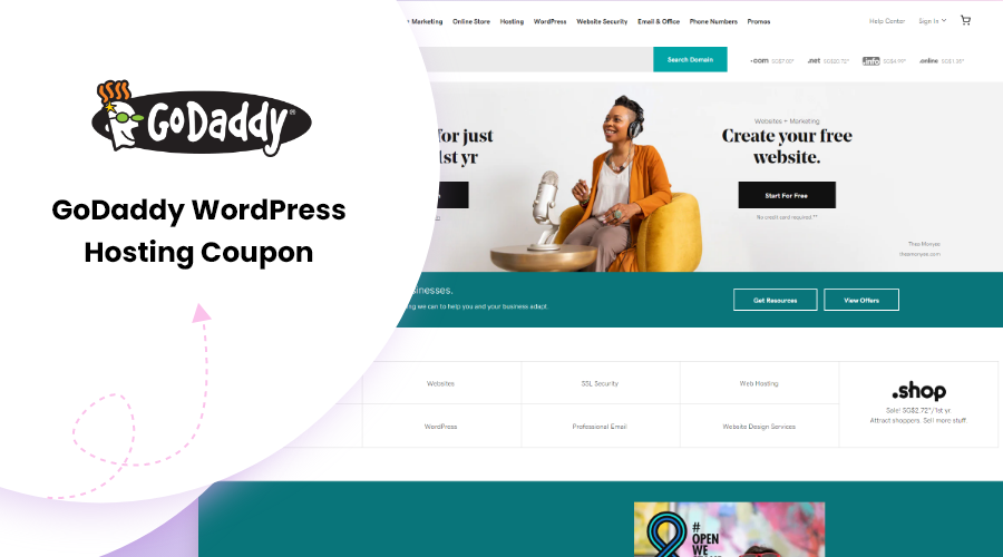 Godaddy WordPress hosting Coupon