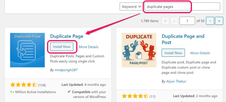 Inserting Duplicate Page's keyword inside text box in WordPress