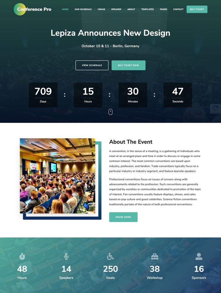 The Conference Pro WordPress Theme