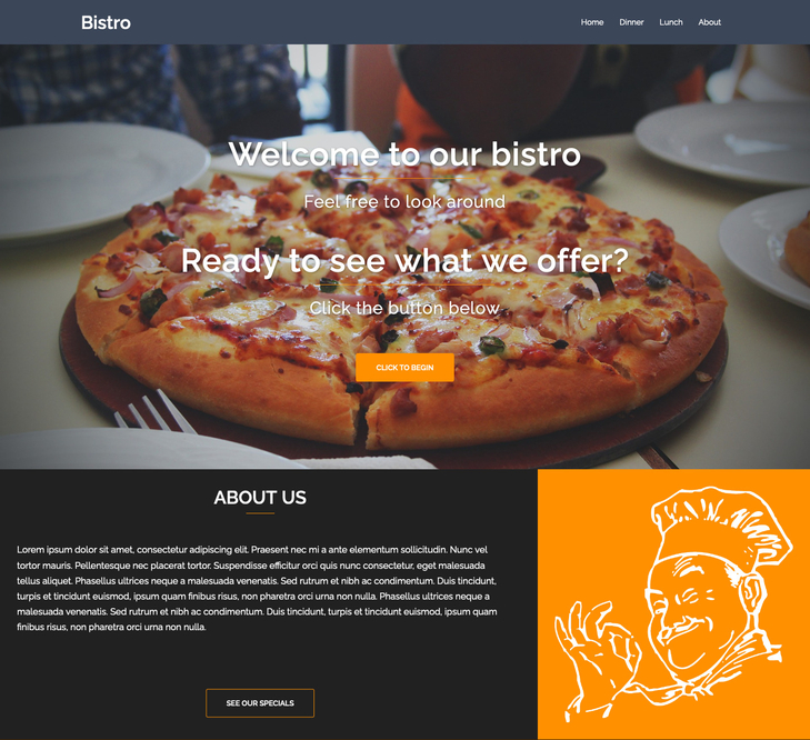Bistro Free WordPress Theme