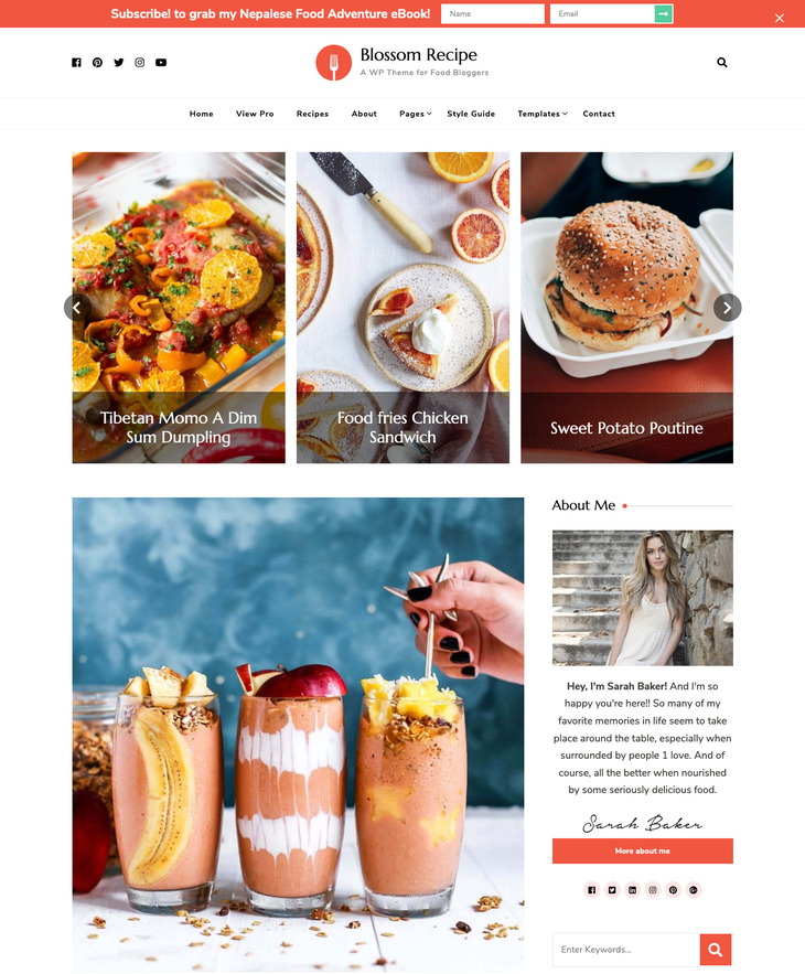 Blossom Recipe Free WordPress Theme