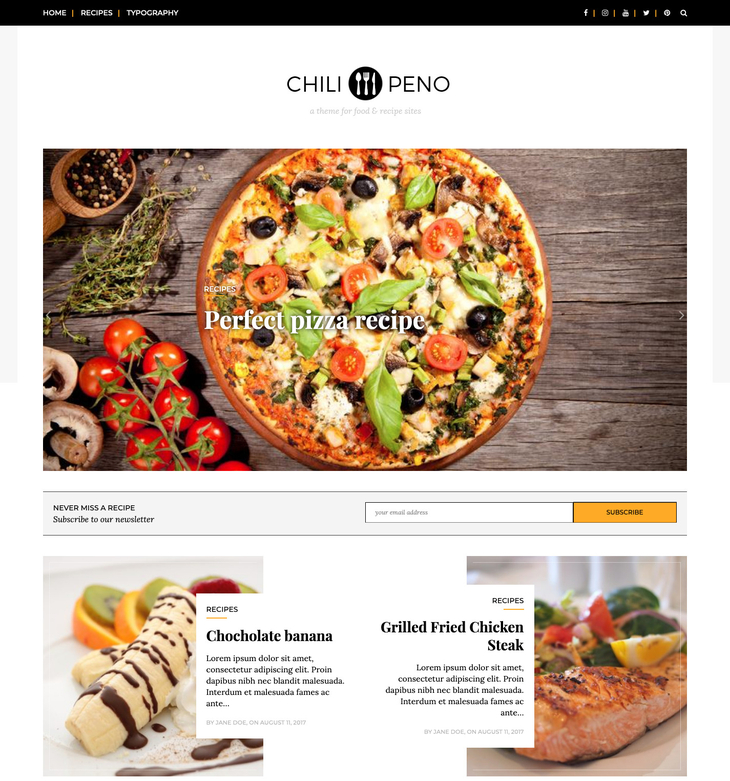 Chilipeno Free WordPress Theme