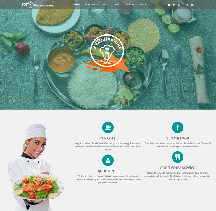 Di Restaurant Free WordPress Theme