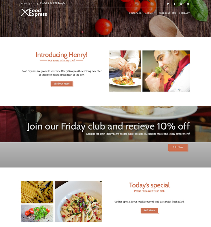 Food Express Free WordPress Theme