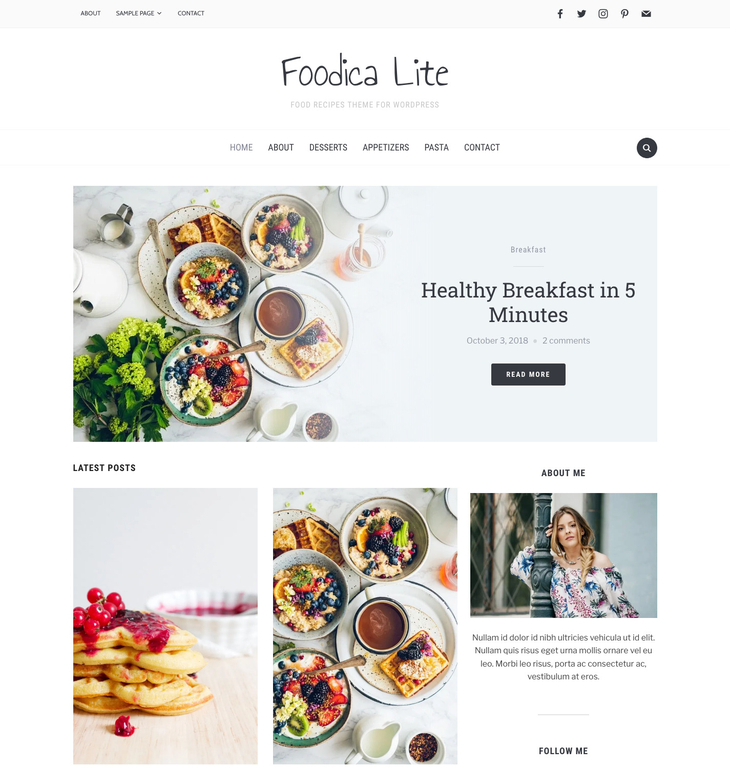 Foodica Free WordPress Theme