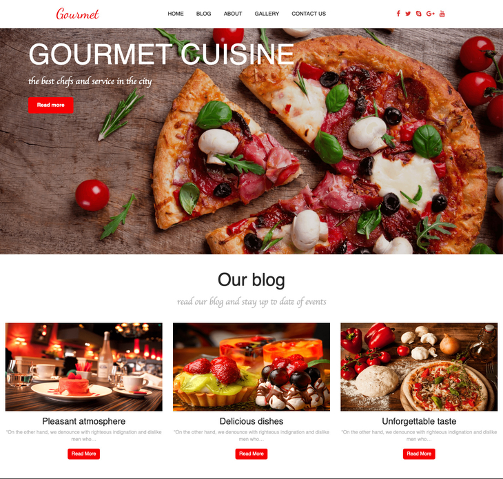 Gourmet Free WordPress Theme