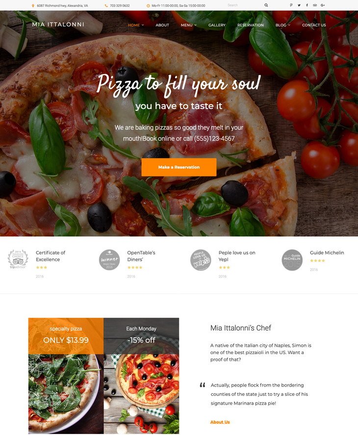 Mia Ittalonni Free WordPress Theme