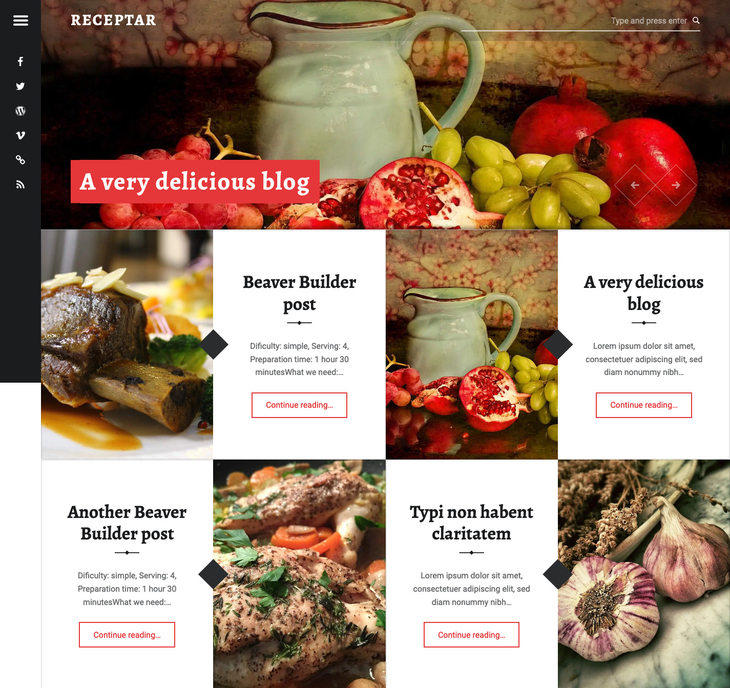 Receptar Free WordPress Theme