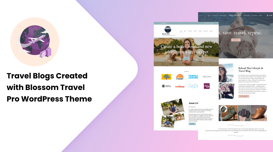Travel Blogs Created with Blossom Travel Pro WordPress Theme