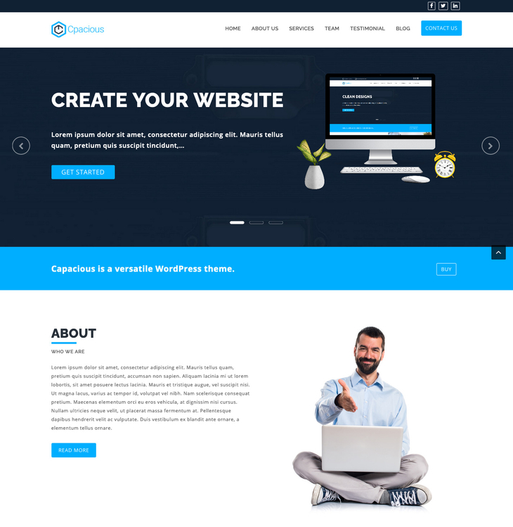 Capacious WordPress Theme