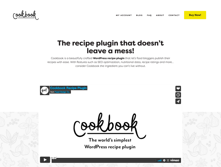 Cookbook WordPress Recipe Plugin
