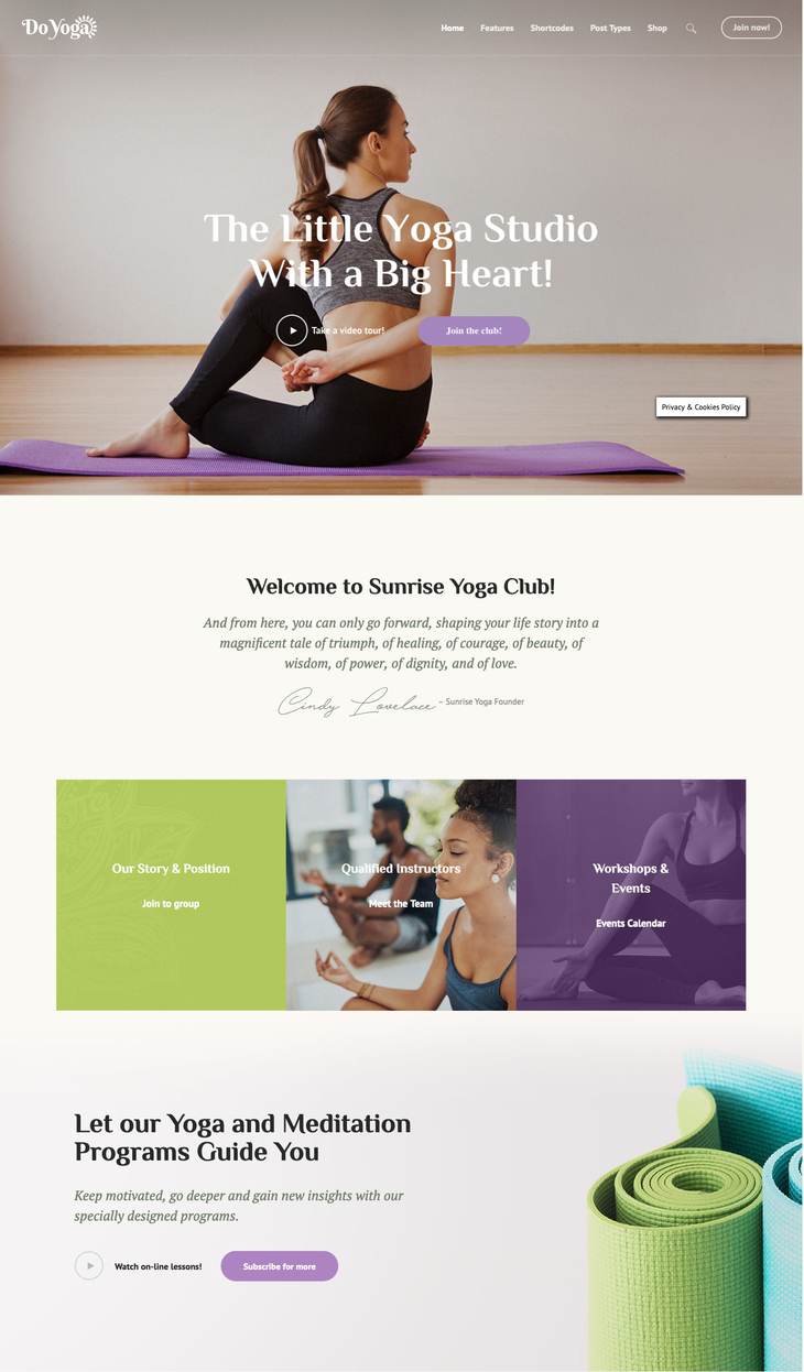 Do Yoga WordPress Theme