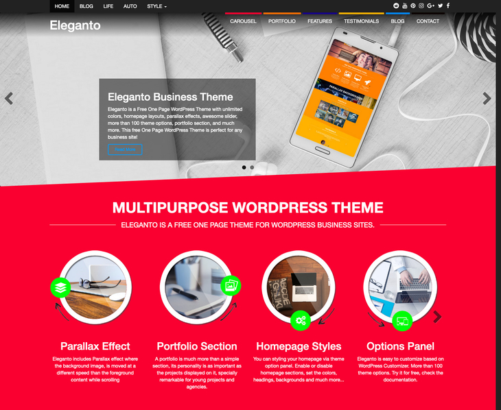 Eleganto WordPress Theme