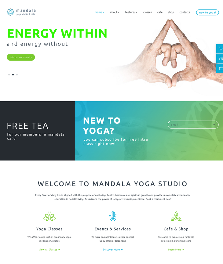 Mandala WordPress Theme
