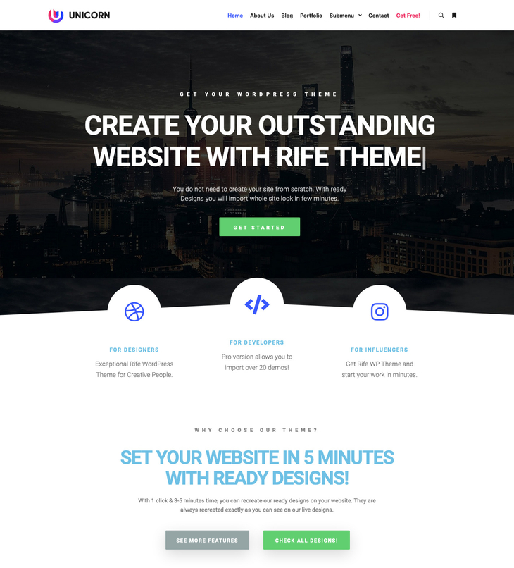 Rife WordPress Theme