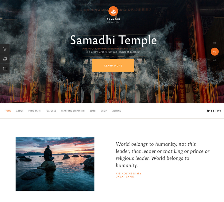 Samadhi WordPress Theme