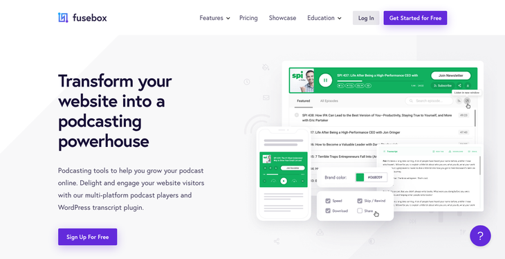 Fusebox - Transform Your Website Into a Podcasting Powerhouse