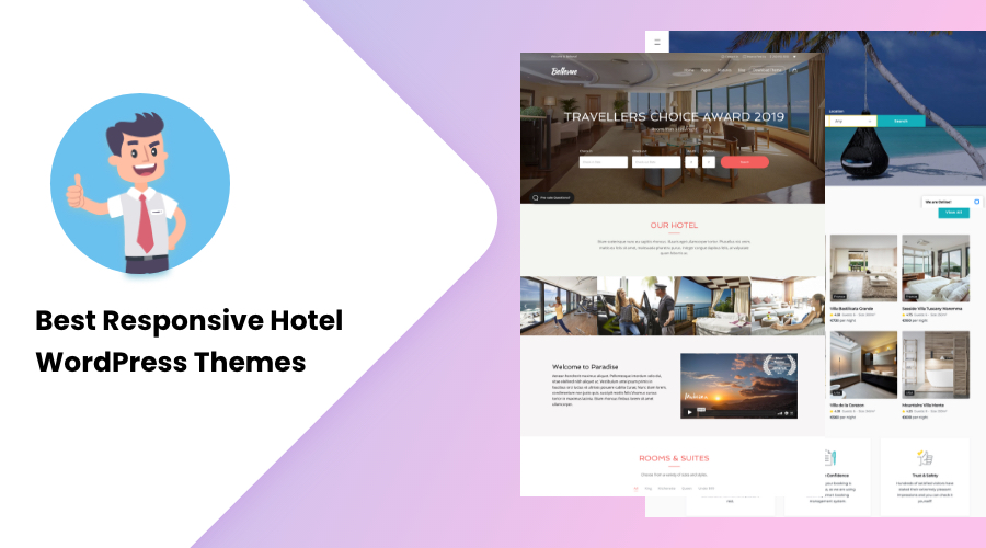 20+ Responsive Hotel WordPress Themes