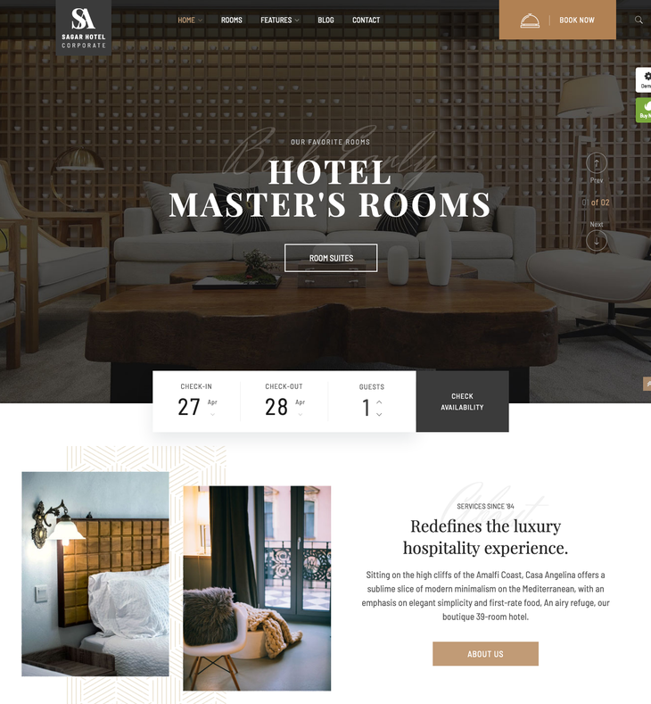 Sailing – WordPress Hotel Theme for Hotel Booking