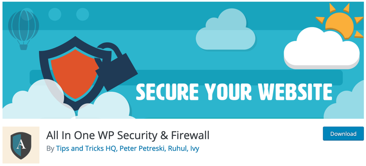 All In One WP Security Firewall WordPress Security Plugins