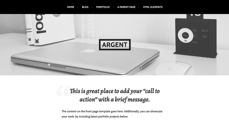 Argent WordPress Theme (1)Argent is a minimalist, clean, and modern portfolio theme for designers, artists, photographers, ad agencies, and creatives.