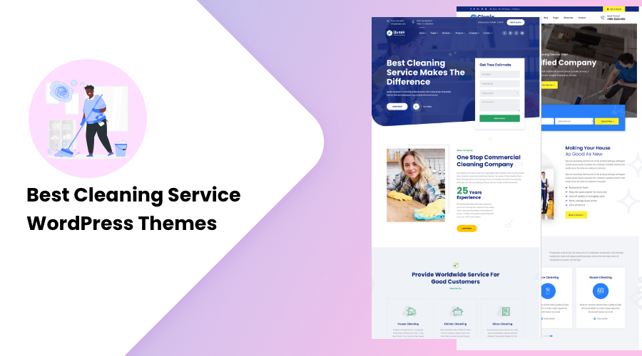 Best Cleaning Service WordPress Themes