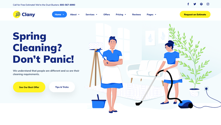 Clany Cleaning Service WordPress Theme