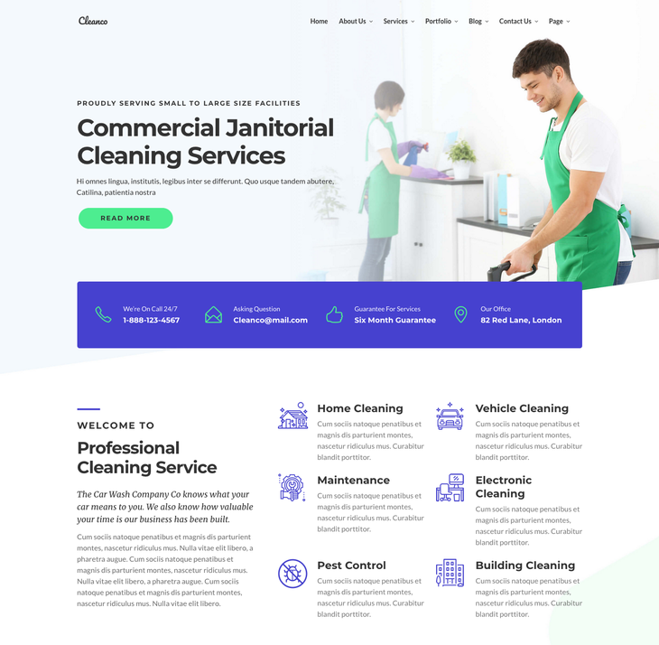 Cleanco Cleaning Service WordPress Theme
