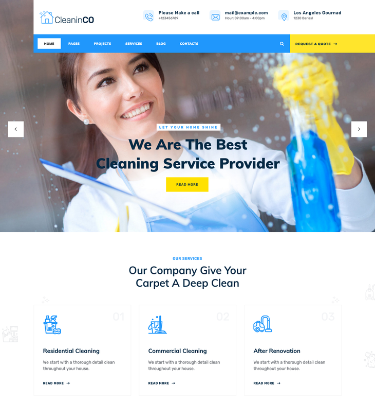 CleaninCO Cleaning Service WordPress Theme