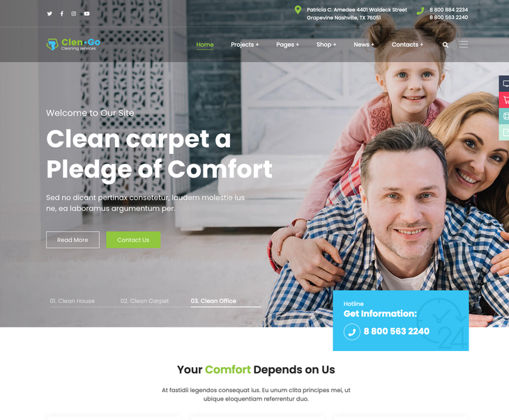 Clengo Cleaning Service WordPress Theme
