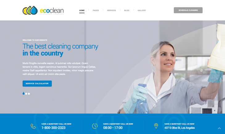 Ecoclean Cleaning Service WordPress Theme