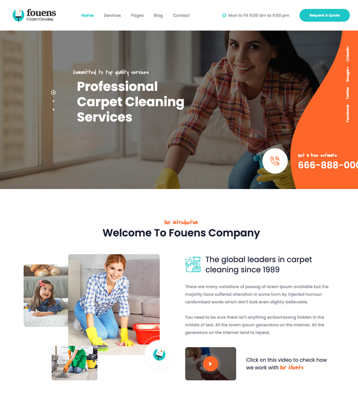 Fouens Cleaning Service WordPress Theme