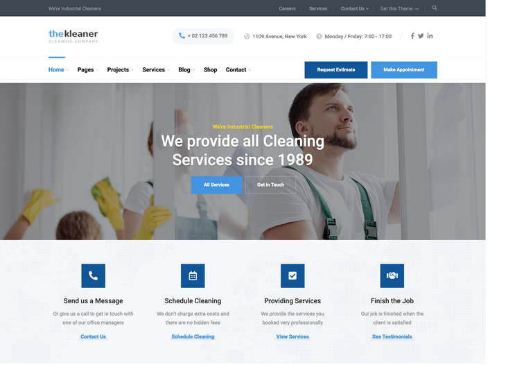 The Kleaner Cleaning Service WordPress Theme