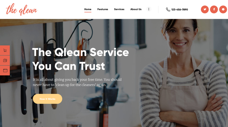 The Qlean Cleaning Service WordPress Theme