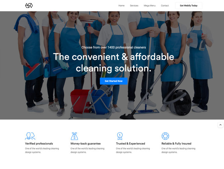 Webify Cleaning Services WordPress Theme