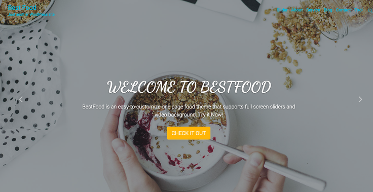 Best Food by cop Themes WordPress site