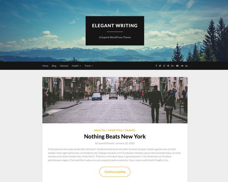 Elegant Writing WordPress Themes for Writers and Authors