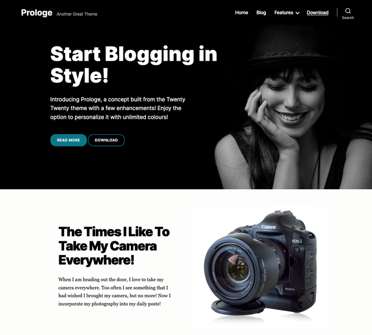 Prologe WordPress Themes for Writers and Authors