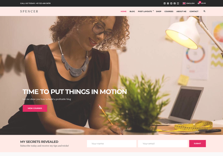 Spencer WordPress Themes for Writers and Authors