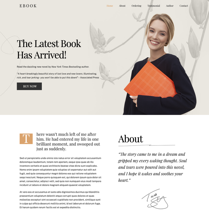 Ultra WordPress Themes for Writers and Authors