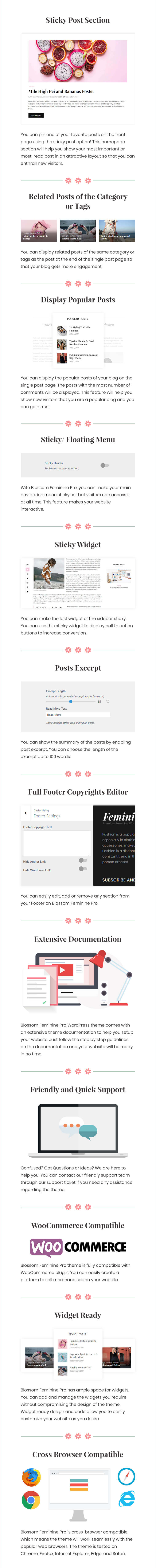 Blossom Feminine Pro Is A Premium Version Of Free WordPress Theme With This You Get To Choose From Multiple Layouts