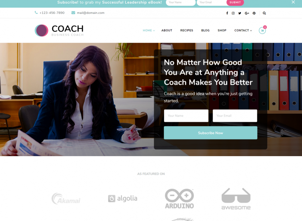 Blossom Coach Free WordPress Theme