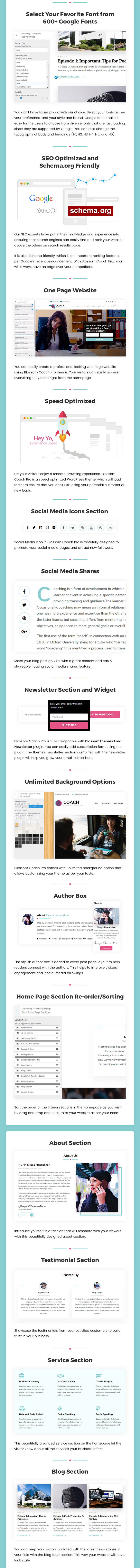 Speakers and Life Coaches WordPress Theme | Blossom Coach Pro