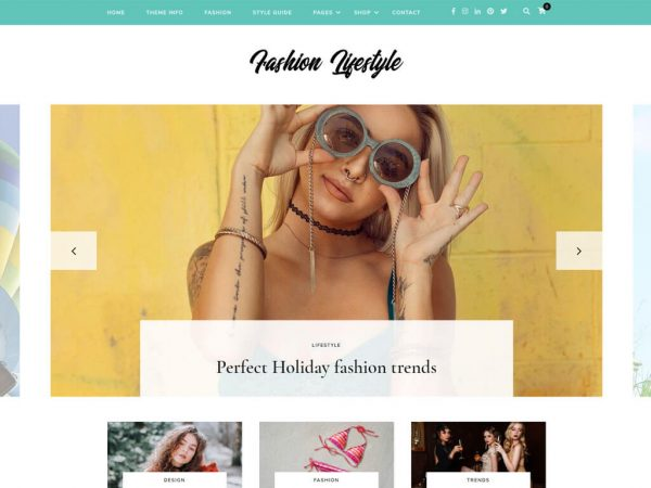 Fashion Lifestyle Free WordPress Theme